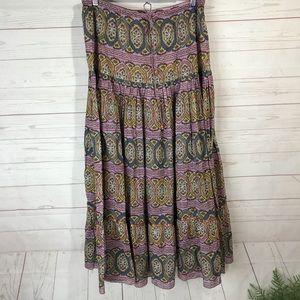 Sundance boho maxi skirt size medium